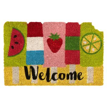 "18""x28"" ""Welcome"" Ice Cream Bars Coir Door Mat"