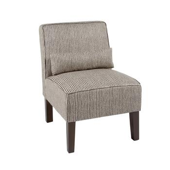 Doodle Upholstered Accent Chair with Pillow