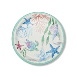 "Coasal Tidepool 9"" Paper Plates 90-Count view 1"
