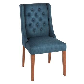 Tufted Sleigh Side Chair