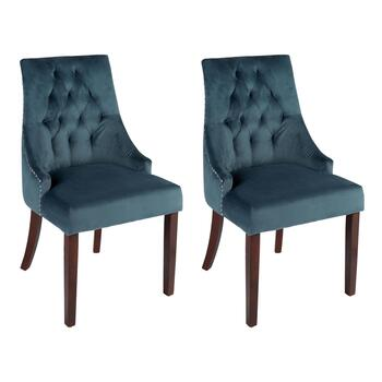 Velvet Tabetha Accent Chairs, Set of 2
