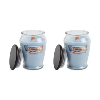 15-oz. Woodwick Sleigh Ride Candle Jars, Set of 2