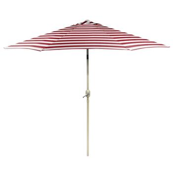9' Red Cabana Crank/Tilt Market Umbrella