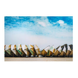 "24""x36"" Boats and Blue Sky Canvas Wall Art view 1"