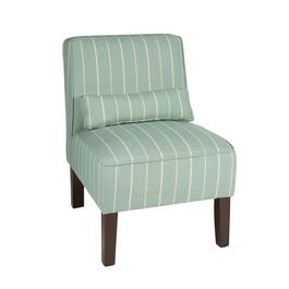 Simone Striped Upholstered Accent Chair with Pillow