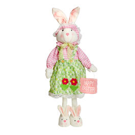 "29"" Green Flower Apron Standing Girl Bunny view 1"