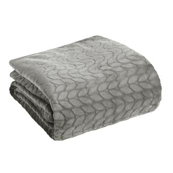 Flannel Rooster™ Solid Cable Patterned Plush Throw Blanket