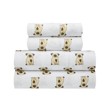 Brown Spotted Dog Sheet Set
