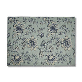 "Blue Floral Print 60"" x 84"" Area Rug view 1"