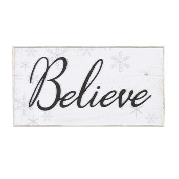 "15""x29"" ""Believe"" Wood Frame Wall Decor view 1"