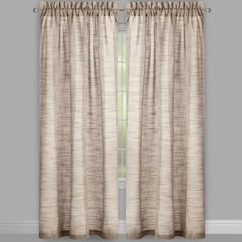Country Solid Rod Pocket Window Curtains, Set of 2 view 2