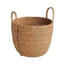 The Grainhouse™ Stitched Round Rush Woven Basket