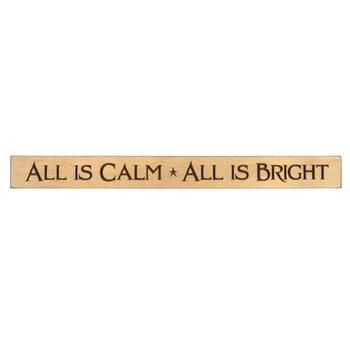 "36"" ""All is Calm"" Wood Wall Sign"