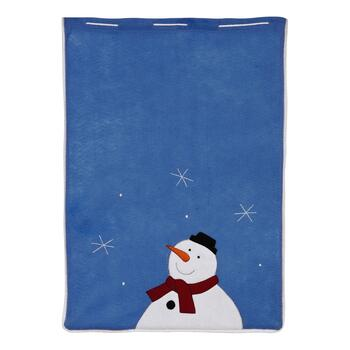 Snowman Embroidered Gift Sack