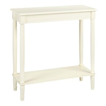 Cream Rectangular Console Table