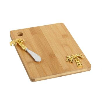 Palm Tree Cheese Board and Knife