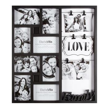 8-Opening Collage Picture Frame with Clips