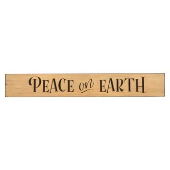 "24"" ""Peace on Earth"" Wood Wall Sign"