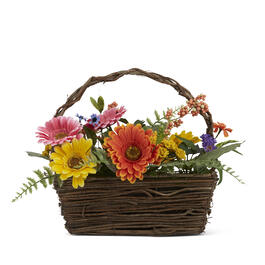 "16"" x 12"" Mixed Daisy Basket view 1"