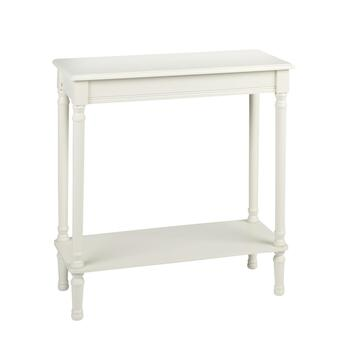 "28.5"" Ivory Rectangular Console Table"