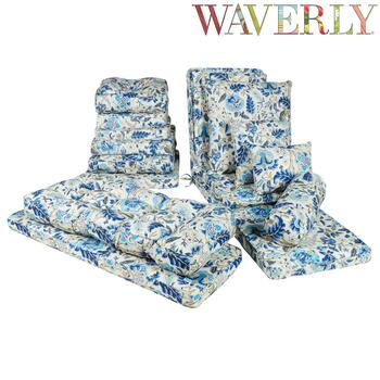 Waverly® Blue Floral Indoor/Outdoor Chair Pads Collection
