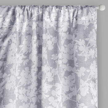 "84"" Floral Bunch Rod Pocket Window Curtains, Set of 2 view 1"