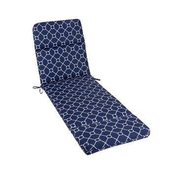 Nautical Knots Indoor/Outdoor Hinged Chaise Chair Pad