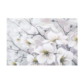 "24""x36"" White Flowers Canvas Wall Art"