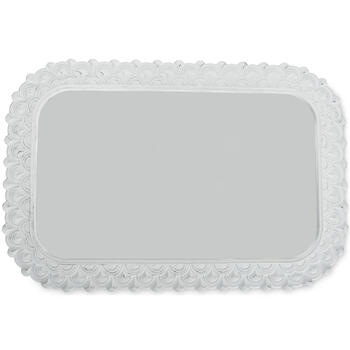 "Petal and Stone™ 24"" x 36"" White Decorative Rectangular Tray view 1"