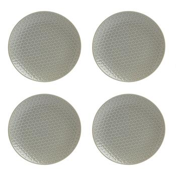 The Grainhouse™ Honeycomb Textured Salad Plates, Set of 4
