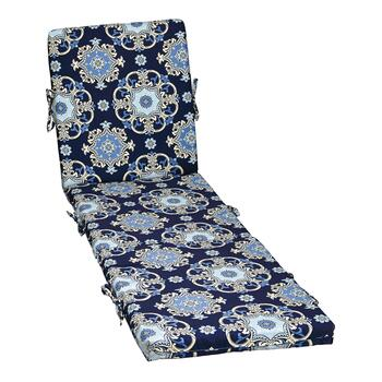 Waverly® Damask Indoor/Outdoor Hinged Chaise Chair Pad