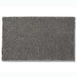 Kids Gray Solid Shag Accent Rug view 1