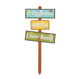 "36"" ""Jelly Beans"" & ""Colored Eggs"" Wood Garden Stake view 1"
