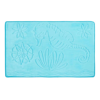"20""x32"" Seahorse Sculpted Memory Foam Bath Mat view 1"