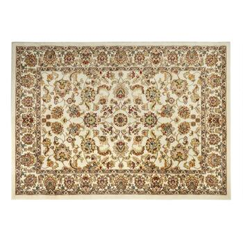 5'x7' Traditional Ivory Floral Olefin Area Rug