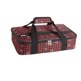 Red Checkered Insulated Casserole Carrier