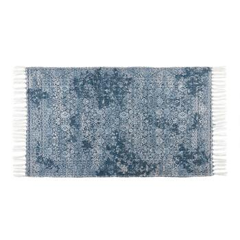 "The Grainhouse™ 27""x45"" Blue Floral Chenille Area Rug"