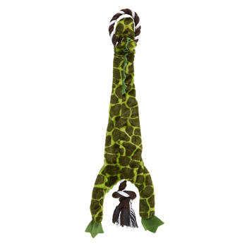 Alligator Squeaker Plush Pet Toy on Rope view 2