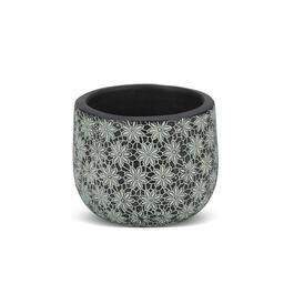 Blue Lace Floral Vietnamese Planter view 1