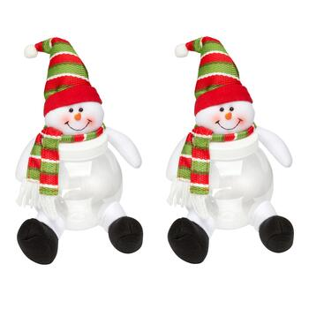 Snowman Belly Jars, Set of 2