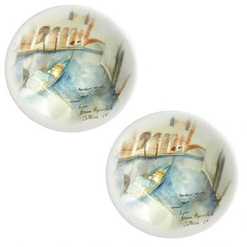 Venezia Ceramic Pasta Bowls, Set of 2