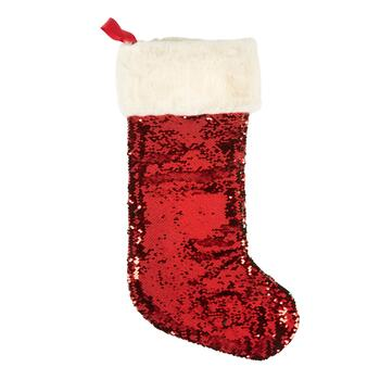 Two-Tone Sequined Stocking