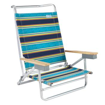 Navy Stripes 5-Position Sand Chair
