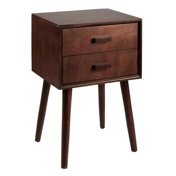 Dark Chocolate 2-Drawer Accent Table