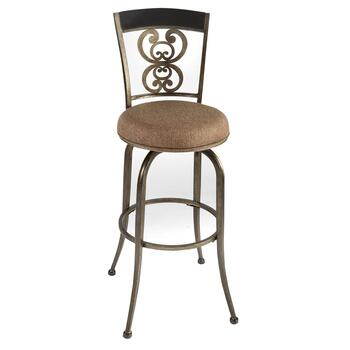Andorra Pewter Swivel Stool