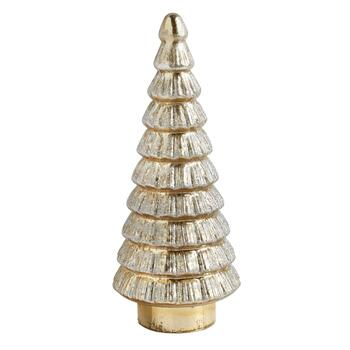 "16"" Horizontal Lines Glitter Mercury Glass Tree"