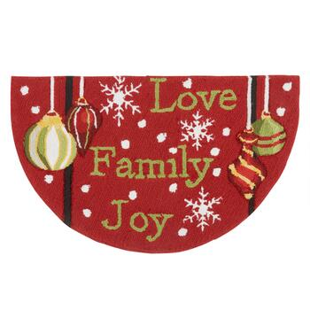 """Love"" Ornaments Hand-Hooked Slice Rug"