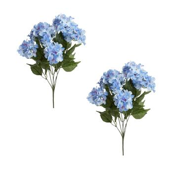 Faux Hydrangea Bush Bouquets, Set of 2