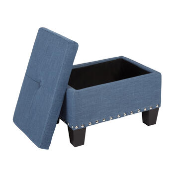 Kent Tufted Storage Ottoman with Nailhead Accents view 4