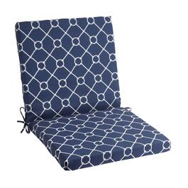 Nautical Knots Indoor/Outdoor Mid-Back Chair Pad